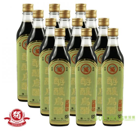 《獨一社》酵釀烏醋(520ml/瓶)/12瓶裝