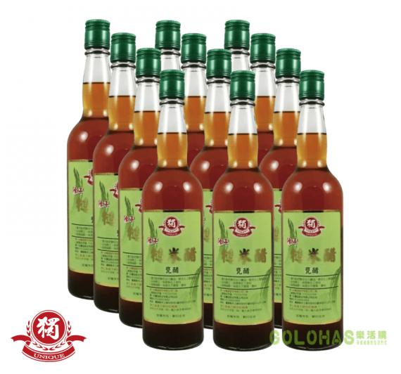 《獨一社》陳年糙米醋(600ml/瓶)/12瓶裝