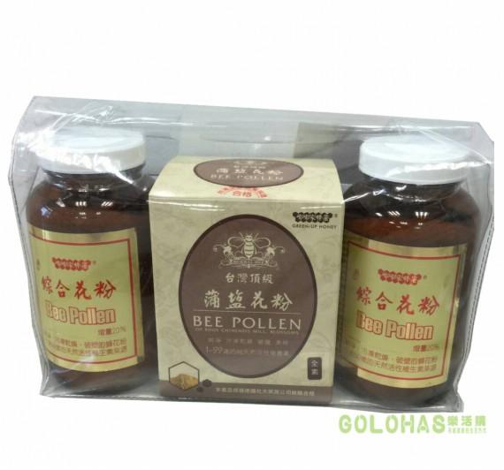 《嘟嘟家蜂蜜》超值蜂花粉組(綜合花粉/瓶裝2瓶+蒲鹽花粉/盒裝1盒)