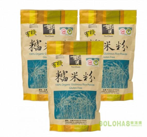 《銀川》有機糯米粉3包組 (600g/包)