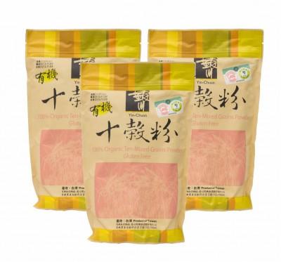 《銀川》有機十穀粉袋裝/3袋組(無糖/600g/袋)