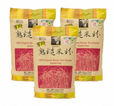 《銀川》有機糙米沖泡粉袋裝/3袋組(無糖600g)
