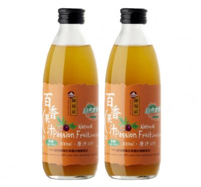 【陳稼莊】百香果汁(加糖)-即飲式(300ml/瓶)/2瓶組