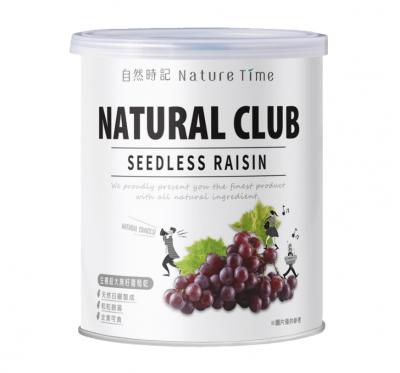【自然時記】生機超大無籽葡萄乾(375g/罐)