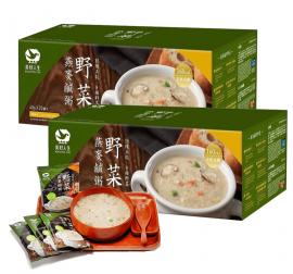 《美好人生》高鈣即食燕麥鹹粥-野菜口味(40g*20包/盒)/2盒組