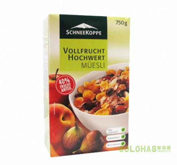 《DROKO》Schneekoppe 德國營養強化膳食纖維多果麥(750g/盒)/2盒組