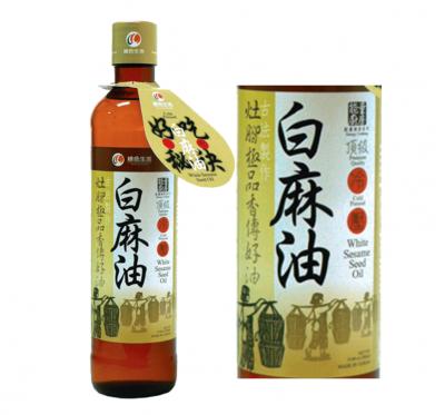 【綠色生活】頂級冷壓白麻油(380ml/瓶)