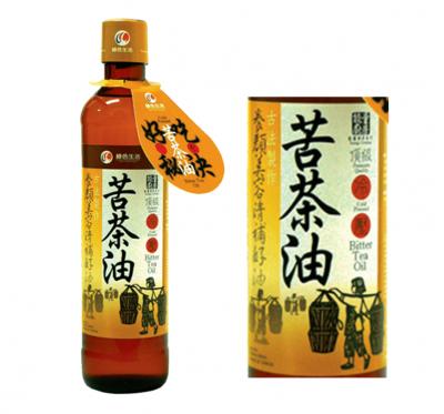 【綠色生活】頂級冷壓苦茶油(380ml/瓶)