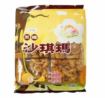 【愛天然】黑糖沙琪瑪(228g/包)/12包組(純素食)