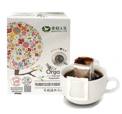 《美好人生》有機濾掛式-耶加雪夫咖啡-掛耳包(60g/盒)