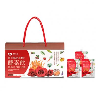 《美好人生》蛹蟲草雙專利酵素飲-四物玫瑰(80mlx24包/盒)