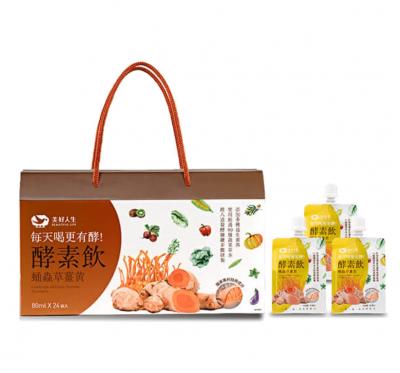 《美好人生》蛹蟲草雙專利酵素飲-薑黃(80mlx24包/盒)