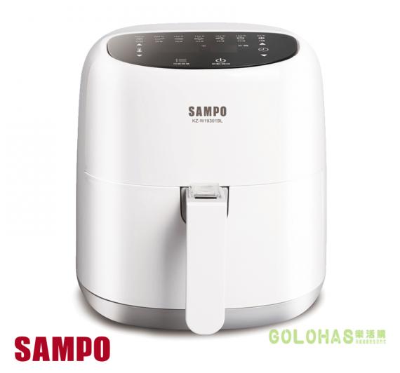 超大容量設計【SAMPO】聲寶微電腦觸控氣炸鍋(KZ-W19301BL)