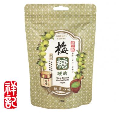 《祥記》梅糖硬的-抹茶口味 (100g/包)