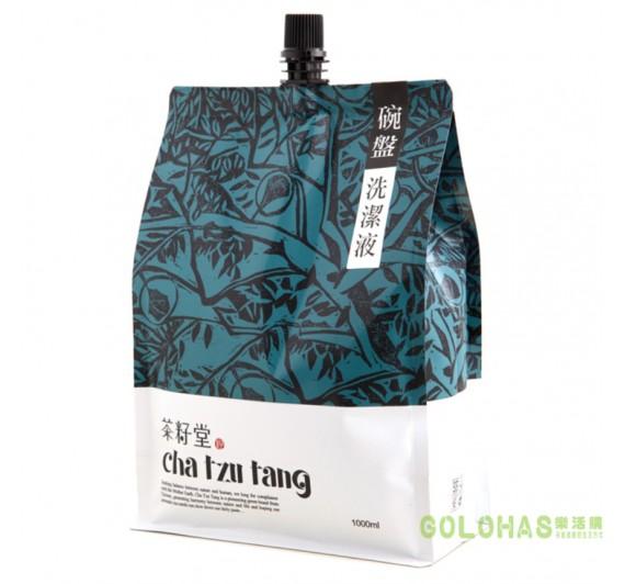 【茶籽堂】天然茶籽碗盤洗潔液(補充包1000ml)4包入