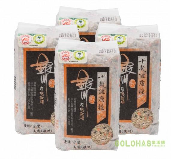 《銀川》有機十榖健康糧4包組(900g/包)