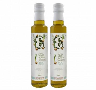 《Cretalicious 》《大蒜風味》2瓶組(250ml)第一道冷壓特級初榨橄欖油