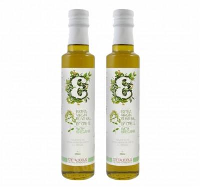 《Cretalicious 》《奧勒岡風味》2瓶組(250ml)第一道冷壓特級初榨橄欖油