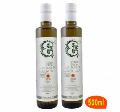 1測試範例-《Cretalicious 》《原味》第一道冷壓特級初榨橄欖油(500ml)2瓶入