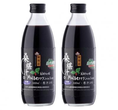 【陳稼莊】桑椹汁(加糖)-即飲式(300ml/瓶)/2瓶組