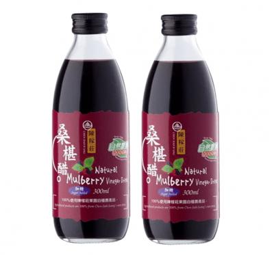 【陳稼莊】桑椹醋(加糖)-即飲式(300ml/瓶)/2瓶組