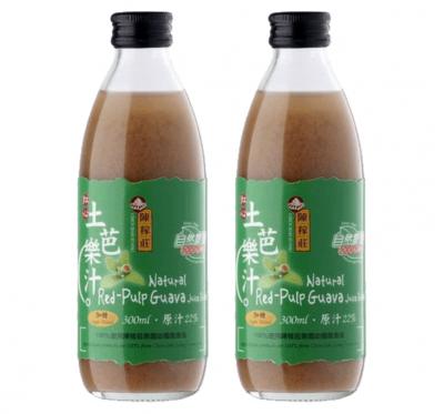 【陳稼莊】紅心土芭樂汁(加糖)-即飲式(300ml/瓶)/2瓶組